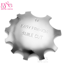 10pcs Professional 11 Sizes Regular Cutter French Manicure Nail Art Tool C Shade Poly Tips Pink