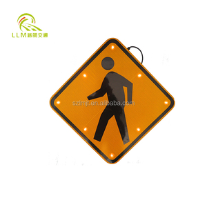 Aluminum board traffic signs solar power road traffic signs traffic control radar speed sign
