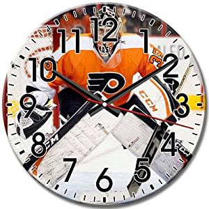 Clock Frameless Round Wall Clock Quiet Philadelphia Flyers Arabic Numbers Popular 10 Inch / 25 cm Diameter