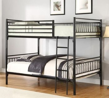 Boarding School Furniture Two Sleeper Steel Bunk Bed With Ladder