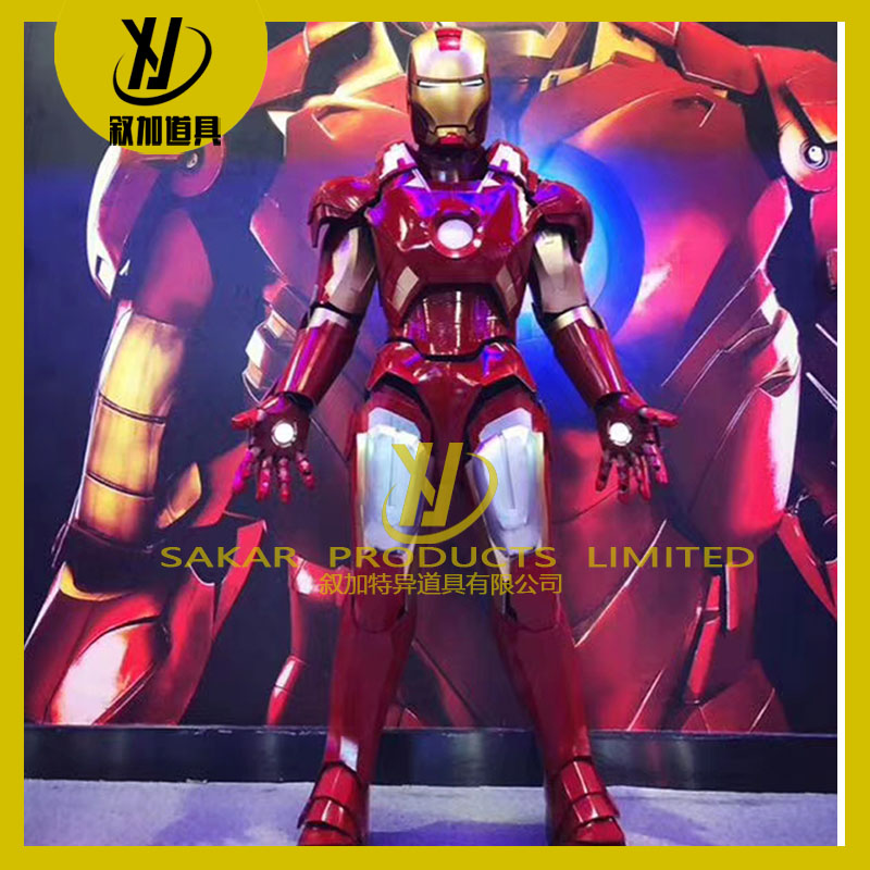 High quality 1:1 high simulation halloween carnival   iron mans costume cosplay  adult robot LED  ironmans Costume