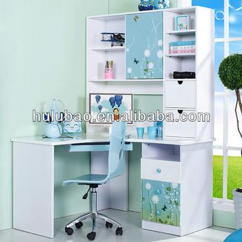 901 Children Kids Modern Study Desk With Cabinetshelfdrawer