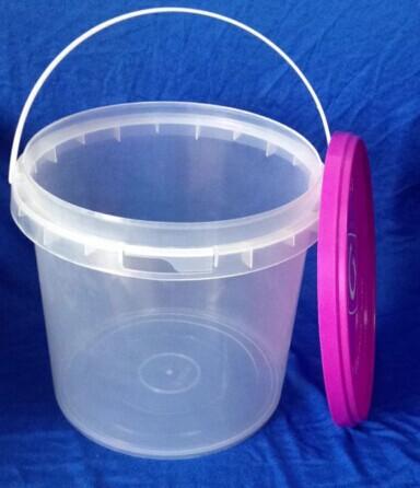 5l vierge pp transparent en plastique seau avec couvercle et poign e tambours seaux cuves id. Black Bedroom Furniture Sets. Home Design Ideas