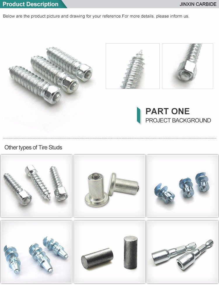 Wheel accessories truck carbide stud with high quality
