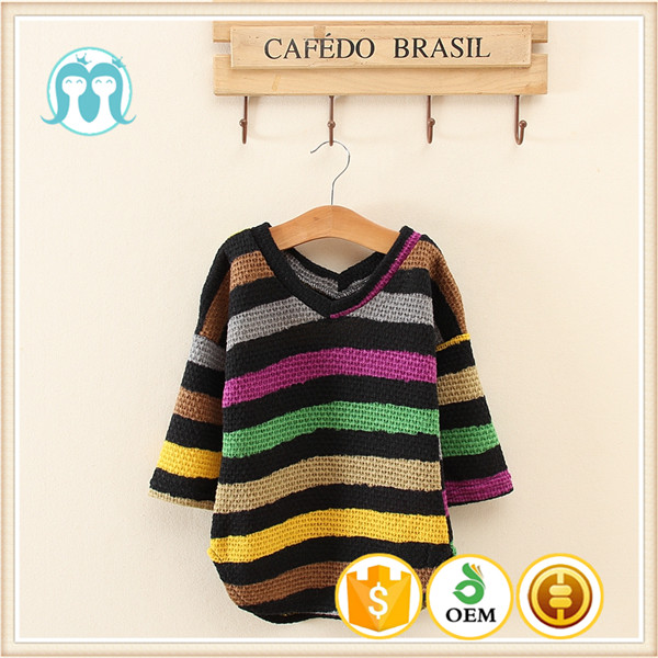Western style Kids&girls computer knitted Fashion Loose Casual sweaters/home casual winter wearings With V-neck