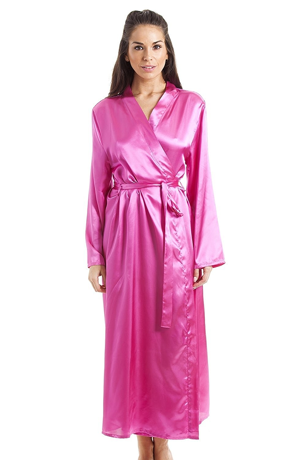 946647fb8 Get Quotations · Camille Womens Pink Luxury Satin Dressing Gown