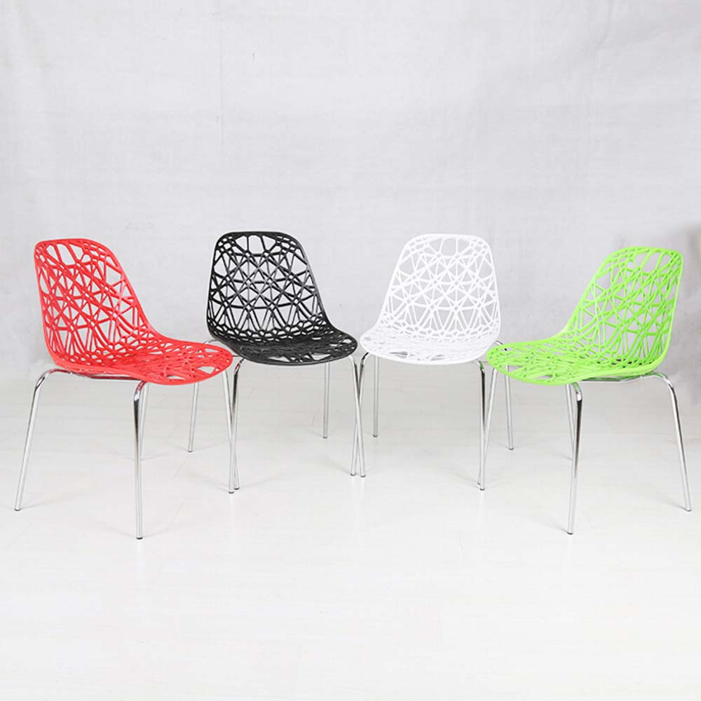 Holle persoonlijkheid ontwerp plastic stoelen gekleurde home ...