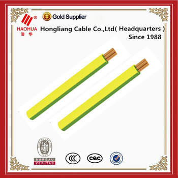 Copper conductor Yellow green grounding cable -- 50mm earthing cable specification -- Bare or with PVC insulation
