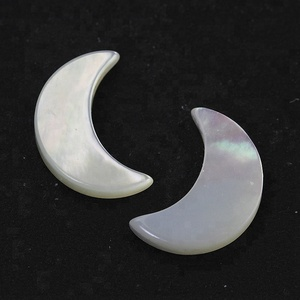 Hot sale moon shaped gem shell stone loose natural pearl