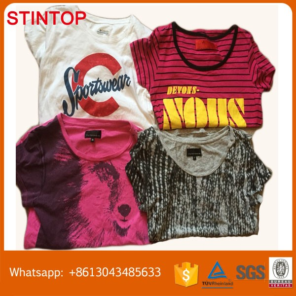 Men T-Shirt Fashion Used Children Clothes Chothing In Bulk