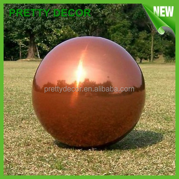 hollow steel ball for lawn decoration