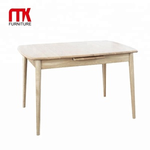 Hot selling modern oak table automatic lift-up extending dining table