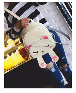 PU Shy Cat Backpack Women Bags Backpack