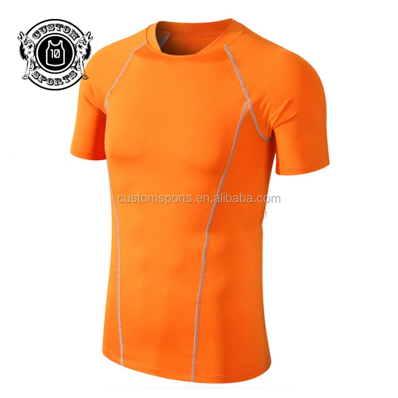 <strong>Orange</strong> men's tshirts for sports men's breathable tshirt