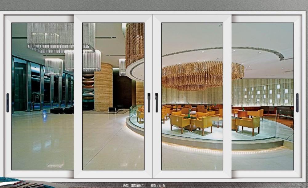 Oficina de aluminio puerta corredera sistema balc n for Puertas de entrada de madera y vidrio