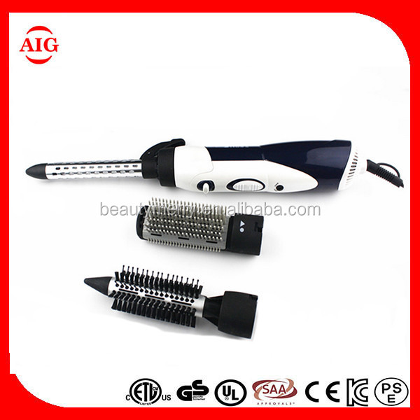 3 in 1 styler and dryer hot air brush 1000W Hair Brush Curler Roller Curling Iron dryer professional Hair Styler