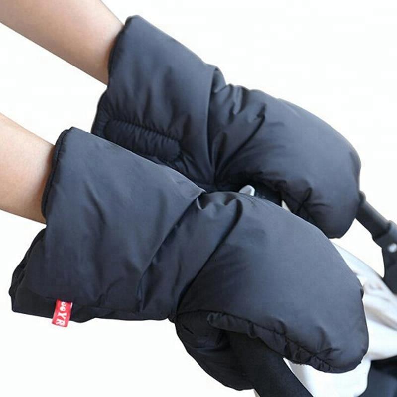 Winter Waterproof Handlebar Black Muffs Wind Gloves Baby Carriage Hand