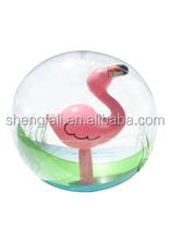 Fun water pool toy beach ball inflatable ball with flamingo inside