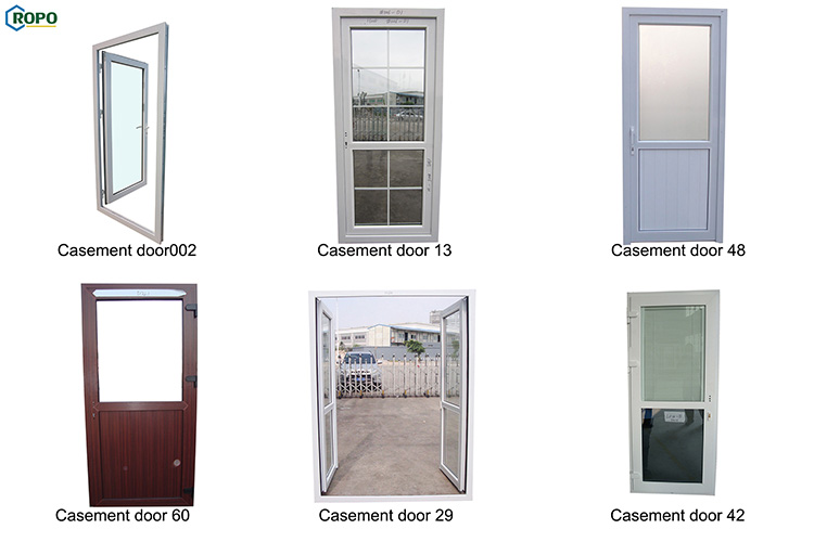 AGGA Double Leaf Exterior PVC Commercial Glass Entry Door,Glass Door For Commercial