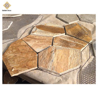 China outdoor slate flagstone with mesh backing