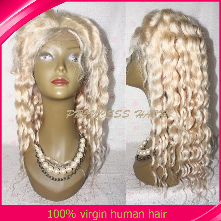 613 Full Lace Woman Hair Wig Platinum Blonde Glueless