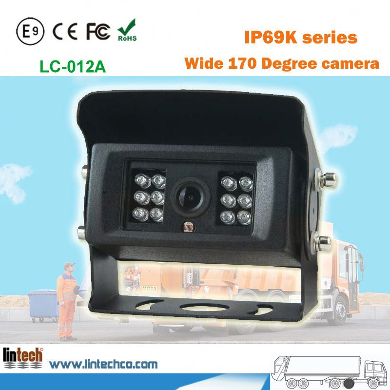 Antifreeze waterproof IP69 truck auto side view camera for cash-in-transit