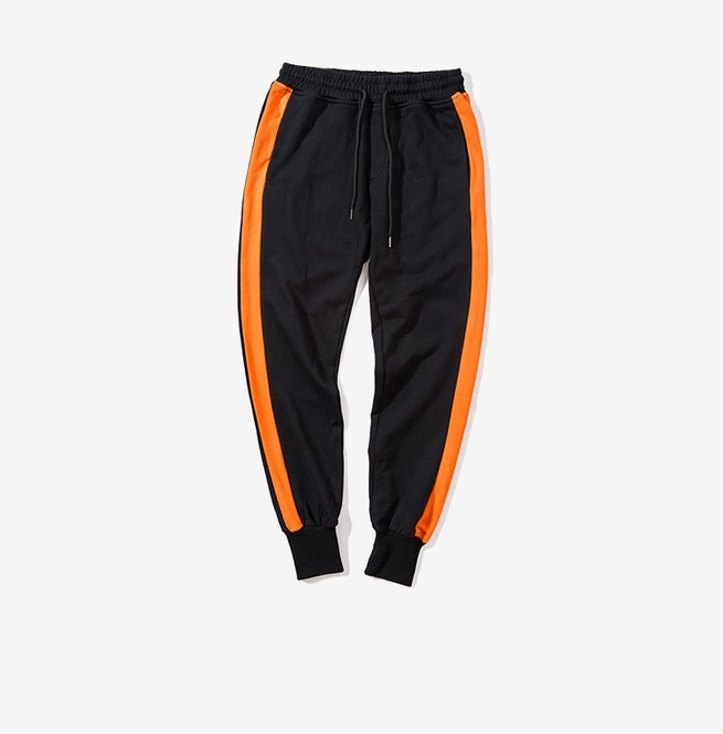 2019 Men casual drawstring contrast sport sweatpants jogger pants