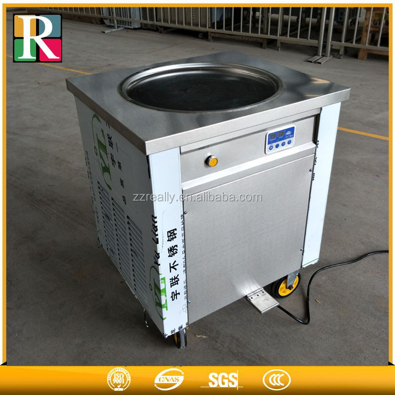 <strong>DHL</strong> free 220v 110v round fried 900w fast freeze single pan fry ice cream machine on alibaba