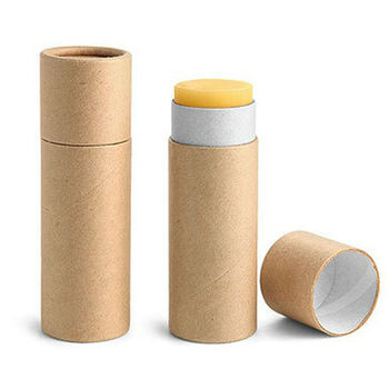 Mini Eco Packaging Kraft Paper Empty Lip Balm Tube Buy