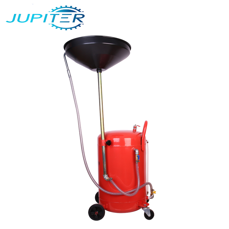 Mobile auto wheel telescopic oil extractor drainer waste oil drain tank