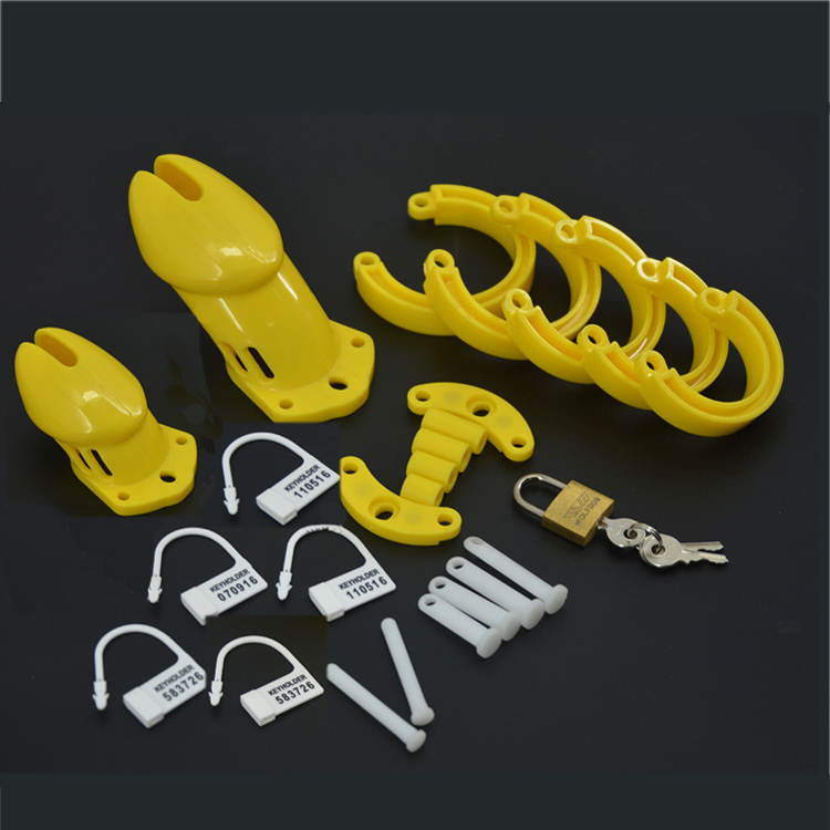 Factory Price Yellow Plastic Standdrd CB6000(S) Numbered Lock Male Anti-Masturbation Dick Bandage