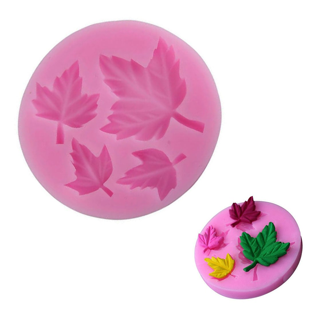 WJSYSHOP Maple Leaf Leaves Shape Silicone Fondant Sugar Decorating Mold Cake Baking Mould – Maple Leaves