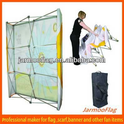 advertising show fabric pop up display stand
