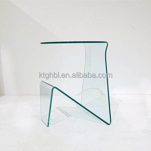 derni res design courb verre porte journaux table basse. Black Bedroom Furniture Sets. Home Design Ideas