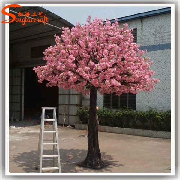 Silk Ornamental Cherry Blossom Tree Artificial Fake Trees