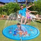 "LC Air Sprinkler Pad Splash Play Mat 67"" Outdoor Water Toddler Toys Summer Fun Game Perfect Inflatable Outdoor Toys Sprinkle"