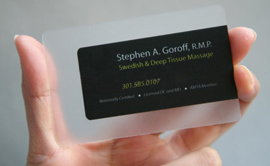 Recycled Plastic Business Card | Arts - Arts