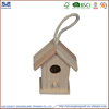 China factory supplier 100% handcraft colorful wooden bird house with rope hand