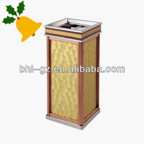 Decorative metal trash can,open top waste bin for sale,factory China GPX-378