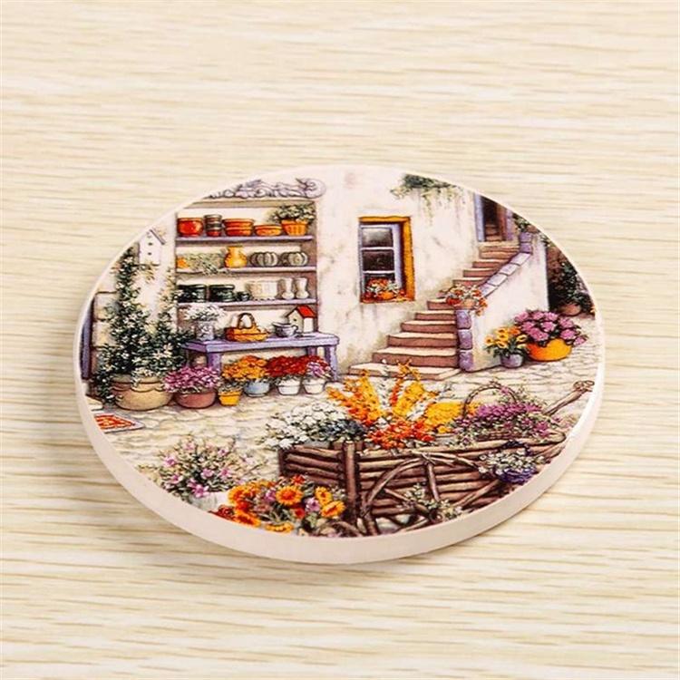 Promotional Reusable Personalised Custom Print Logo Customizable Coasters Ceramic Coaster Cork фото