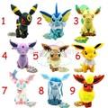 Pokemon eevee plush toy 9 pcs set 17 21 cm pokemon plush set stuffed Sylveon Eevee