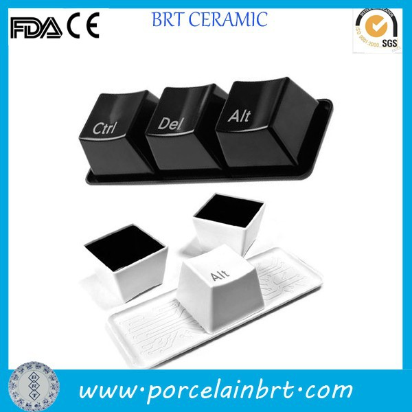Special design computer keyboard shaped office Square Ceramic Mugs