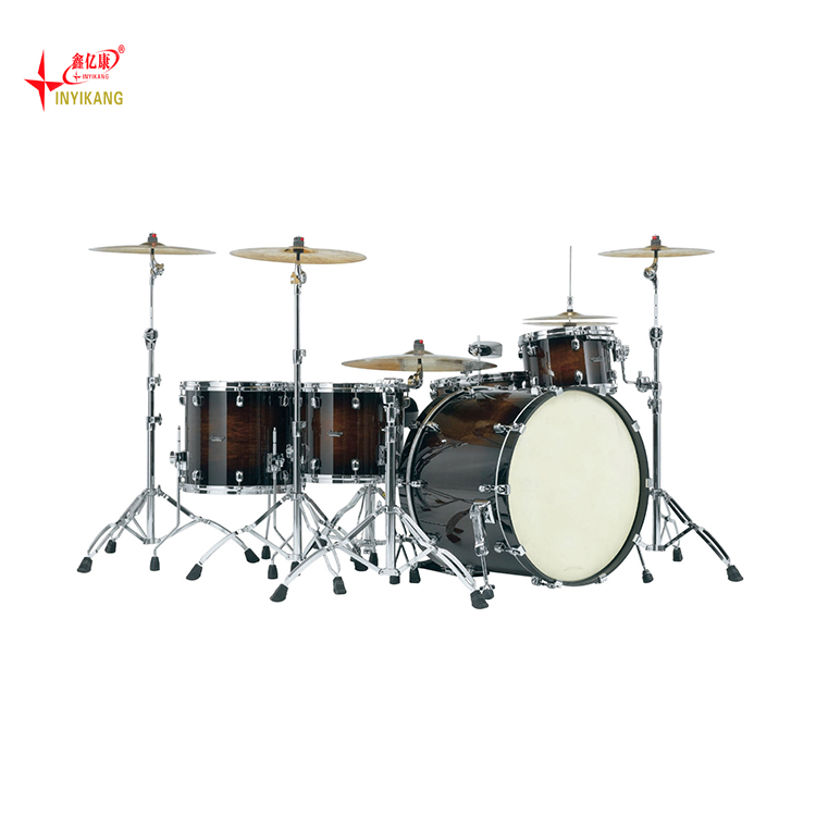 Instrumentos musicais feitos sob encomenda maple jazz electric drum set professional