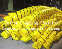 supply heat resistant and negative pressure 6''-24'' pvc flexible ducting