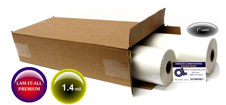 LAM-IT-ALL Hot Laminating Film 18-inch x 500-feet x 1-inch core (4 Rolls) 1.4 Mil