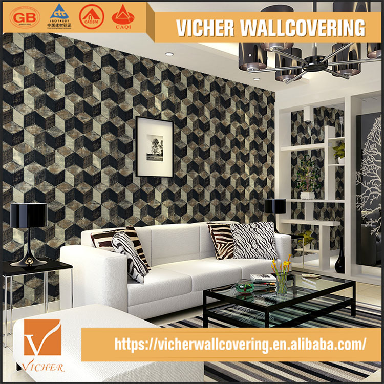 2017 newly launched italian interior wallpapers 3d effect wall decoration