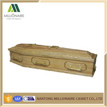 Cheap and high quality European style wood coffins wholesale