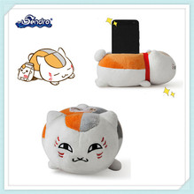 high quality popular cartoon plush cat toy plush cell phone holder for car