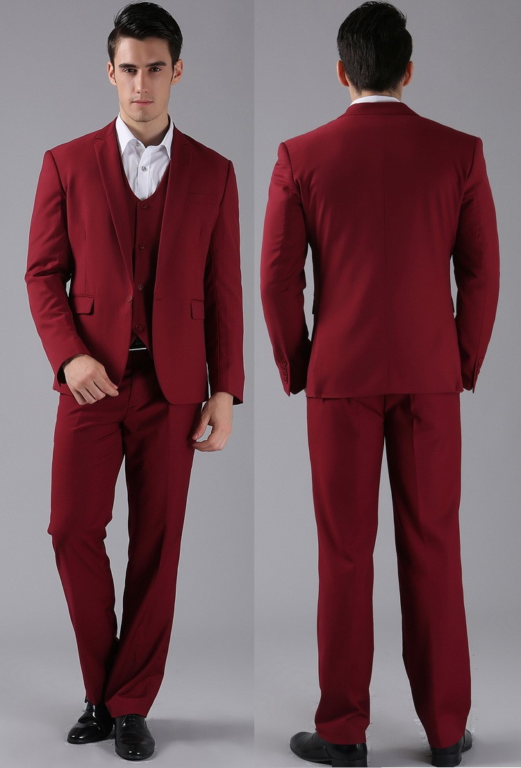 (Kurtki + Spodnie) 2016 Nowych Mężczyzna Garnitury Slim Fit Niestandardowe Garnitury Smokingi Marka Moda Bridegroon Biznes Suknia Ślubna Blazer H0285 73