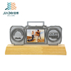 Customized fantasy Marathon running sport award metal trophy with wooden base